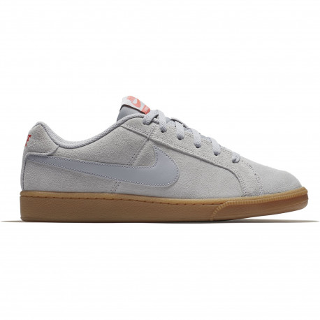 Men's nike court royale suede shoe - Wolf grey/wolf grey-solar red