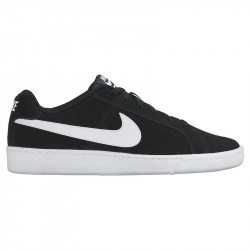 NIKE, Men's nike court royale suede shoe, Black/white