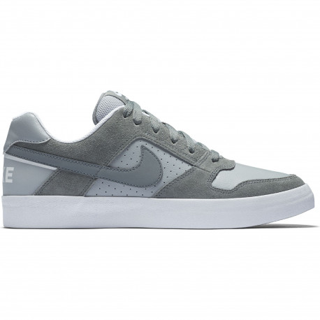 Men's nike sb delta force vulc skateboarding shoe - Cool grey/cool grey-wolf grey-white
