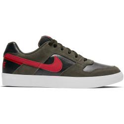 NIKE, Men's nike sb delta force vulc skateboarding shoe, Sequoia/mystic red-black-white