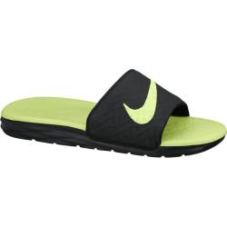 NIKE, Nike benassi solarsoft slide, Black/volt