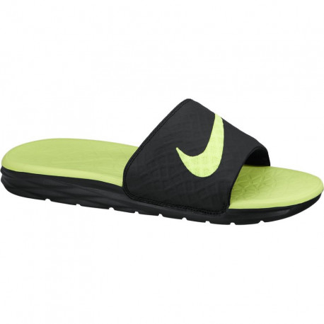 Nike benassi solarsoft slide - Black/volt