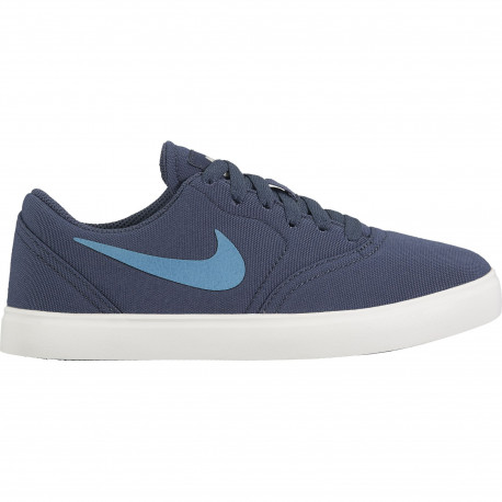 Nike sb check canvas (gs) skateboarding shoe - Thunder blue/noise aqua-summit white