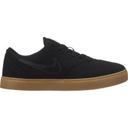 NIKE, Nike sb check canvas (gs) skateboarding shoe, Black/black-gum light brown