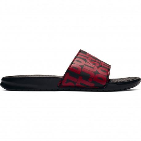 Nike benassi just do it. print - Black/university red