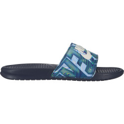 NIKE, Nike benassi just do it. print, Obsidian/summit white