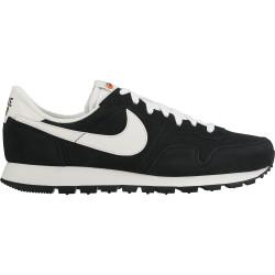 NIKE, Nike air pegasus '83 leather men's shoe, Black/summit white-sail-safety orange