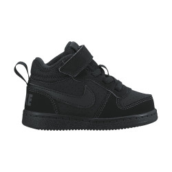 NIKE, Boys' nike court borough mid (td) toddler shoe, Black/black