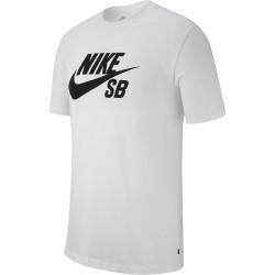 NIKE, M nk sb dry tee dfct logo, White/black