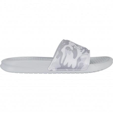 Nike benassi jdi textile se - Pure platinum/mtlc platinum-white