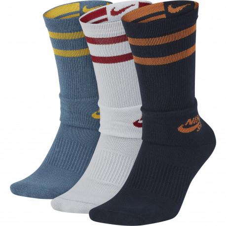 Unisex nike sb crew skateboarding socks (3 pairs) - Multi-color