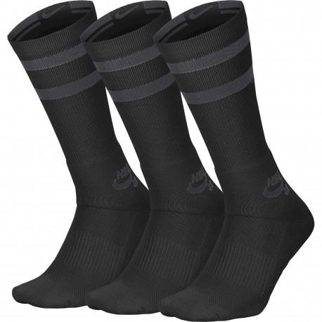 Unisex nike sb crew skateboarding socks (3 pairs) - Black/anthracite