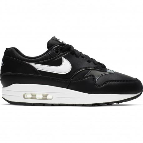 Women's nike air max 1 shoe - Black/white
