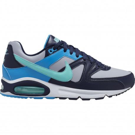 Men's nike air max command shoe - Wolf grey/aurora green-blackened blue