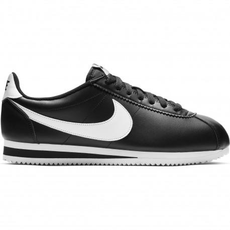 Nike classic cortez leather - Black/white-white