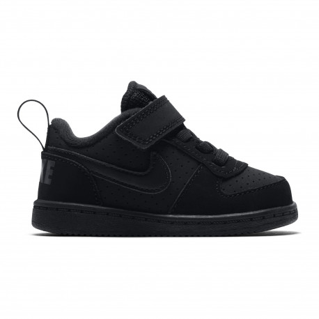 Boys' nike court borough low (td) toddler shoe - Black/black
