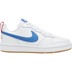NIKE, Nike court borough low 2 (gs), White/pacific blue-university red