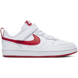 NIKE, Nike court borough low 2 (psv), White/university red