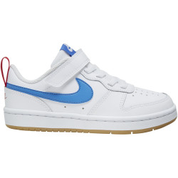NIKE, Nike court borough low 2 (psv), White/pacific blue-university red
