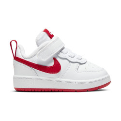 NIKE, Nike court borough low 2 (tdv), White/university red