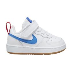 NIKE, Nike court borough low 2 (tdv), White/pacific blue-university red