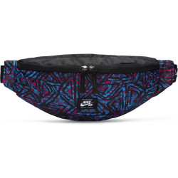NIKE, Nk sb heritage hip pack - aop, Black/laser blue/white