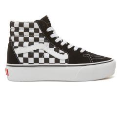 VANS, Sk8-hi platform 2, Checkerboard/true white