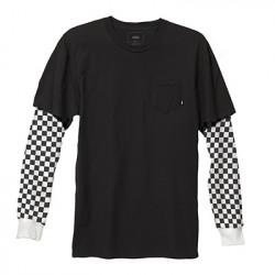 VANS, Checker sleeve tw, Black/checker