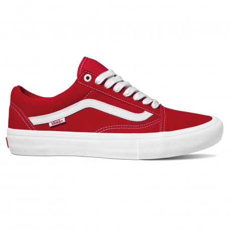 Old skool pro - (suede) red/whi