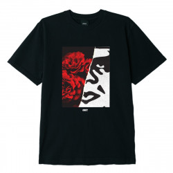OBEY, Floral icon, Black