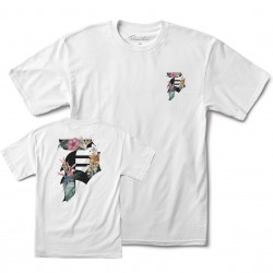 PRIMITIVE, T-shirt dirt y p tropics, White