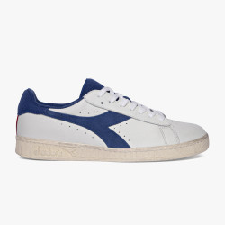 DIADORA, Game l low used, Blanche/bleu bijou