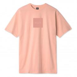 HUF, T-shirt quake box logo ss, Coral pink