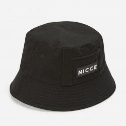 NICCE, Vision bucket hat with rubber logo, Black