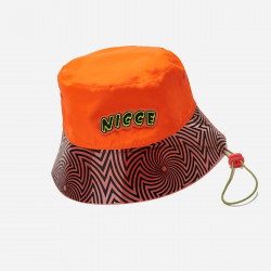 NICCE, Cranium soft structure bucket hat, Shocking orange/black