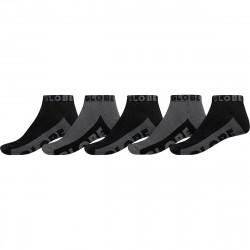 GLOBE, Black/grey ankle sock 5pk, Black/grey