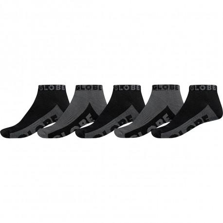 Black/grey ankle sock 5pk - Black/grey