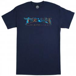 THRASHER, T-shirt hieroglyphic ss, Navy