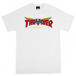 THRASHER, T-shirt venture collab ss, White
