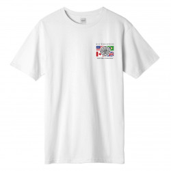 HUF, T-shirt global wave ss, White