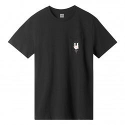 HUF, T-shirt central park ss pocket, Black