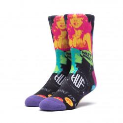 HUF, Socks comic, Black