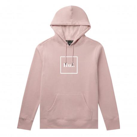 Sweat hood box logo - Coral pink