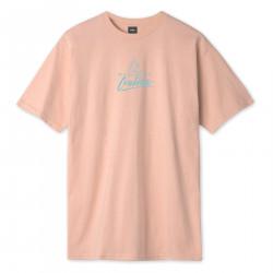HUF, T-shirt forbidden domain ss, Coral pink