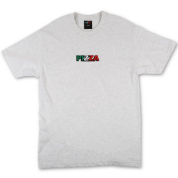 PIZZA, T-shirt tri logo, Grey