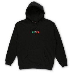 PIZZA, Sweat tri logo hood, Black