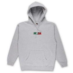 PIZZA, Sweat tri logo hood, Grey