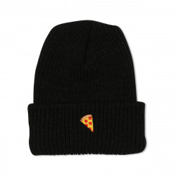 PIZZA, Beanie emoji, Black