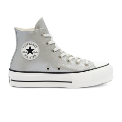 CONVERSE, Chuck taylor all star lift hi, Silver/egret/black