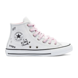 CONVERSE, Chuck taylor all star hi, White/black/pink glaze